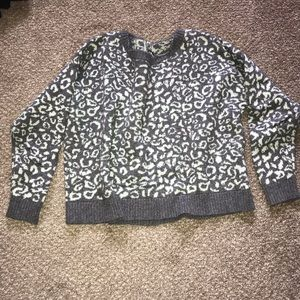 Free people leopard sweater